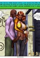 Dubhgilla, Tim and redhead 3D Interracial Sex